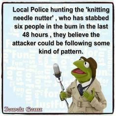 """Beware of the """"Nutty Knitter"""""""