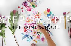 Take your hand painted design through to a Production ready artwork! Textile Pattern Design, Textile Patterns, Textiles, Paint Designs, Fabrics, Photoshop, Hand Painted, School, Illustration