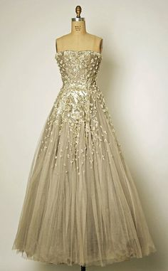 Vintage Dior wedding dress/evening gown,1954