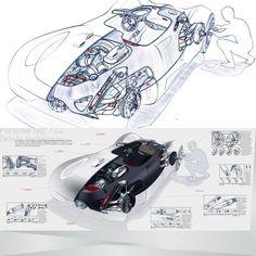Car design cut-away