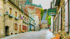 View of Chateau Frontenac (honeymoon, 1972 -a) from Old City Quebec. Quebec Montreal, Old Quebec, Quebec City, Montreal Canada, Ottawa Canada, Oh The Places You'll Go, Places To Travel, Places To Visit, Travel Stuff