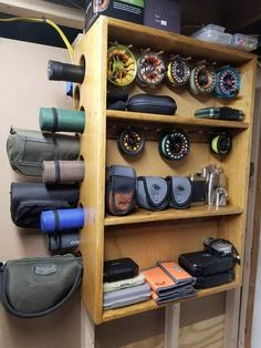 Fly Rod and Reel Storage Shelf: 9 Steps (with Pictures) fishing fishing fishing tips fishing tying Ice fishing fishing fishing fishing Fishing Rod Rack, Fishing Rod Storage, Fly Fishing Gear, Gone Fishing, Trout Fishing, Fishing Reels, Fishing Lures, Fishing 101, Fishing Stuff