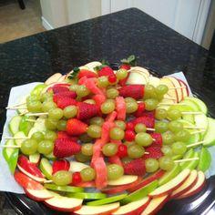 Christmas fruit tray.