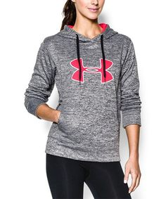 This Heather Gray Storm Big Logo Twist Hoodie by Under Armour® is perfect! #zulilyfinds