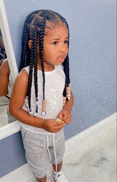 Black Girl Braided Hairstyles, Black Kids Hairstyles, Baby Girl Hairstyles, Natural Hairstyles For Kids, Baddie Hairstyles, Black Girl Braids, Braids For Black Hair, Office Hairstyles, Toddler Hairstyles