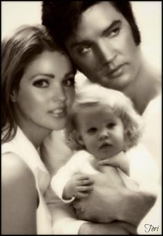 "The ""Presleys"".  Elvis, Priscilla, and daughter. (1/21/2014)  People  (CTS)"