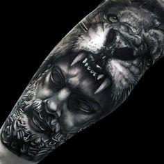 Resultado de imagem para hercules tattoo sleeve