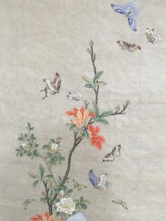 Korean Painting, Chinese Painting, Chinese Art, Oriental Flowers, Geisha Art, Chinese Patterns, Floral Embroidery Patterns, Vintage Botanical Prints, Japanese Art