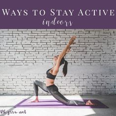 7 Ways to Stay Active When You Can't Get Outside. I share tips on how to stay active during the winter or anytime you can't go outside. Home Exercise Routines, Gym Routine, At Home Workouts, Fitness Tips, Health Fitness, Fitness Workouts, Body Weight Hiit Workout, Workout Guide, Workout Plans