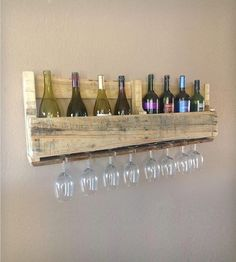 Natural Finish Salvaged Wood Wine Rack, 8 Bottle