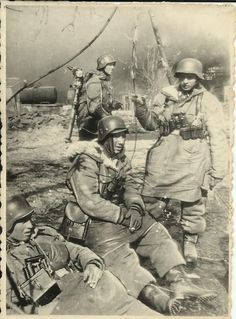 German soldiers, Winter Eastfront