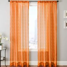 Modern Wedding Decoration Tulle Tab Top Sheer Curtains Bedroom Orange Partition Curtain Hotel Yarn Window Curtain Living Room Yesterd Home Textile In 2019