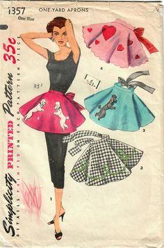 1950s Simplicity 1357 Vintage Sewing Pattern Misses Half