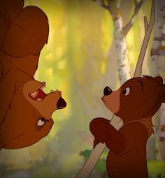 Brother Bear ~ Several of the bears in the salmon run strongly resemble The Country Bears (2002) from the eponymous movie.