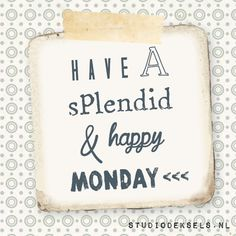 Studio Deksels - Monday - greetings - splendid - design - graphic