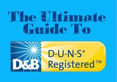 Everything your small business needs to know about DUNS.  ... every business SHOULD have one of these! --> FG Blog