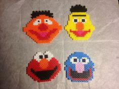Elmo and friends perler bead