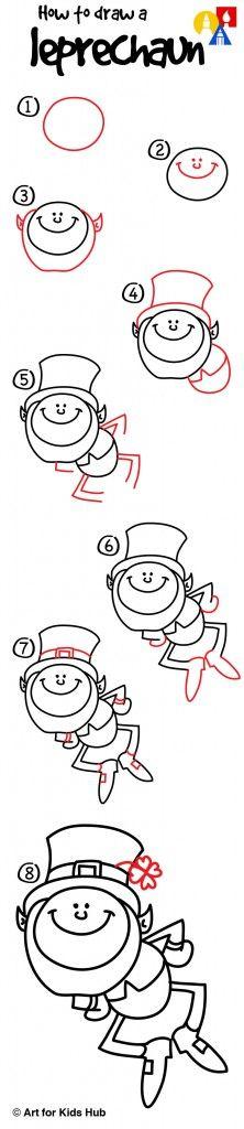 Learn how to draw a simple cartoon leprechaun!