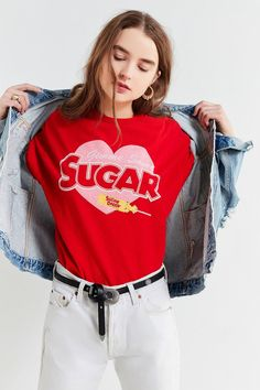 Shop Junk Food Gimme Some Sugar Tee at Urban Outfitters today. We carry all the latest styles, colors and brands for you to choose from right here. Unique Valentines Day Gifts, Junk Food Clothing, Fashion Outfits, Womens Fashion, Style Fashion, Long Shorts, Piece Of Clothing, Cropped Hoodie, Pretty Outfits