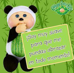 ¡Soy muy suave para que me puedas abrazar en todo momento! #cabbagepatch #cuties #panda #muñeca #niñas #abrazo