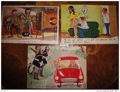Lot de 3 cpa par Bozz-Bellus des années 1960/70