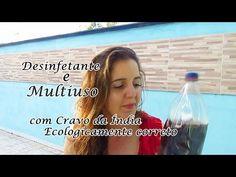 DESINFETANTE CASEIRO (MULTIUSO CASEIRO) COM VINAGRE, BICARBONATO E CRAVO - YouTube