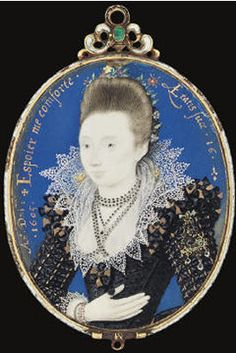 A young lady aged probably a member of the Strangways family, dated 1605 Tudor History, Art History, 1500s Fashion, Renaissance Artists, Miniature Portraits, Medieval Costume, The Donkey, Classic Paintings, Art Graphique