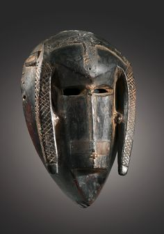 Africa   Mask from the Bamana people of Mali   Wood and pigments