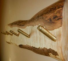 Shell casing coat rack..DIY project