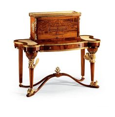 Bureau of solid wood with inlays, Armando Rho - Furniture MR