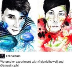 Credit to original artist as I️ could never do this amazing beautiful fantastic art Dan Howell, Phan Is Real, Dan And Phill, Phil 3, Danisnotonfire And Amazingphil, Cat Whiskers, Phil Lester, My Escape, Markiplier
