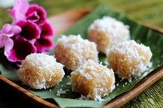 Cassava Cake with Shredded Coconut - so dainty and delectable - I love eating them any chance I have!