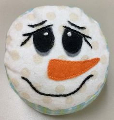 The Snowie Pincushion, Project 17 from Fast, Fun, and More Gifty, can be found on page 42. For all those lovers and collectors of pincushions, this little guy can be counted among them with his sweet,