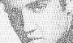 Elvis Presley typography portrait