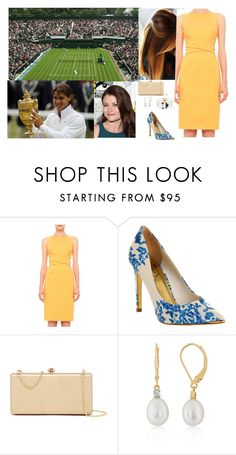 """""""Watching the Men's Singles Final match between Rafael Nadal and Tomas Berdych  on Day Thirteen of the Wimbledon with Betty"""" by pacqueline-ngoya ❤ liked on Polyvore featuring Akris Punto, Ted Baker, Deux Lux, Belk & Co. and Eshvi"""