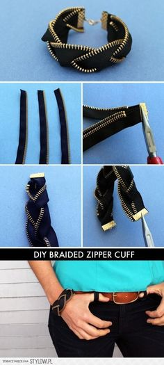DIY Braided Zipper Cuff