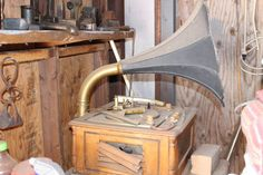 old rustic phonograph old west