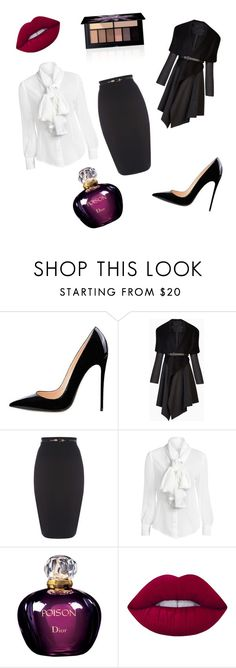 """Untitled #3"" by maja-omic ❤ liked on Polyvore featuring BCBGMAXAZRIA, Christian Dior, Lime Crime and Smashbox"