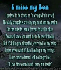 I carry you in my Heart SON... 11/7/85 -n 6/23/14