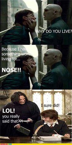 Nose!!!! Lol