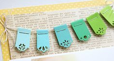 invitations-scrapbook pages-paper punched banners. so cute!