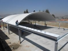 Steel Structure Buildings, Modular Structure, House Gate Design, Roof Design, Indoor Soccer Field, Home Basketball Court, Quonset Hut Homes, Membrane Structure, Container House Design