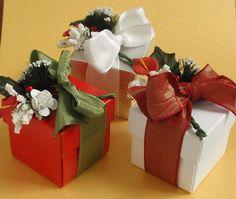Winter Flower Bouquet Favor Box  - choice of treats inside