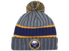 20848690 - Buffalo Sabres New Era NHL Stripe Chiller Pom Knit Minnesota North Stars, Nhl Apparel, Nba Store, Buffalo Sabres, Nfl Shop, Nfl Jerseys, Fan Gear, Sport Outfits, Beanie