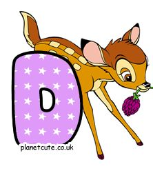 Planet Cute - Alphabet - Bambi - Image Bambi, Disney Letters, Cute Alphabet, Letters And Numbers, Pikachu, Disney Characters, Fictional Characters, Image, Friends
