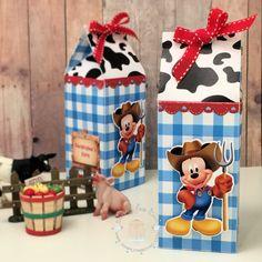 Mickey Farmer Milk Box (Personalized Favor Box | Birthday Treat Box