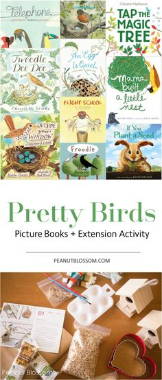 Bird themed books for kids and the cutest ever extension activity to go with them! So adorable and just right for spring.