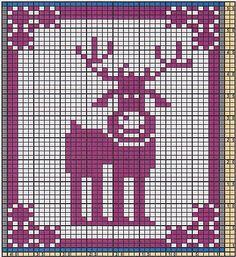 Potholder Reindeer Rudolph pattern by Regina Schoenfeldt - knitting charts Potholder Patterns, Dishcloth Knitting Patterns, Knit Dishcloth, Knitting Charts, Quilt Patterns, Crochet Patterns, Beaded Cross Stitch, Crochet Cross, Crochet Chart
