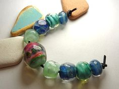Lampwork Borosilicate Beads TAOS Two Sisters by TwoSistersDesignss, $20.00