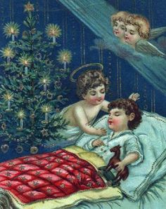 Christmas card with angels and a child in bed! (1/2/2014)  Christmas (CTS)